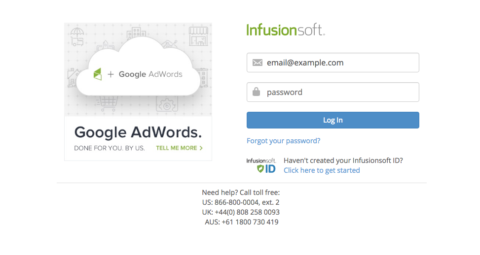 login to infusionsoft