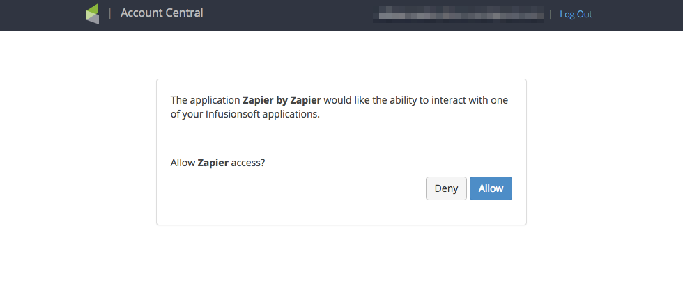 allow zapier access to infusionsoft