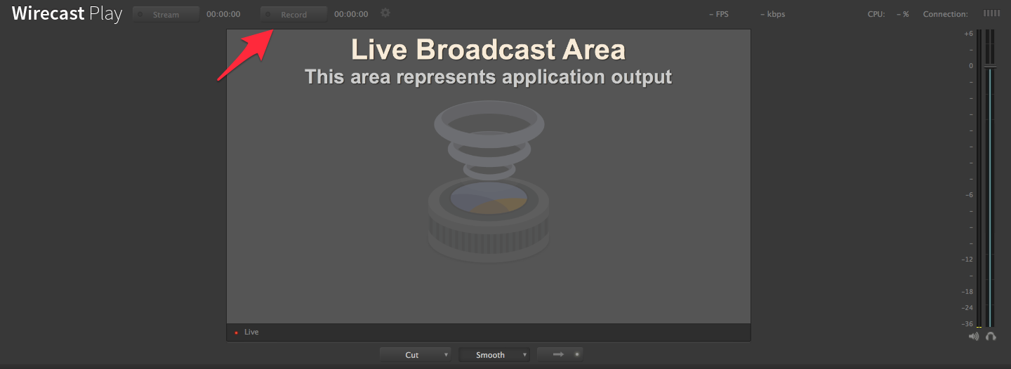 wirecast play record