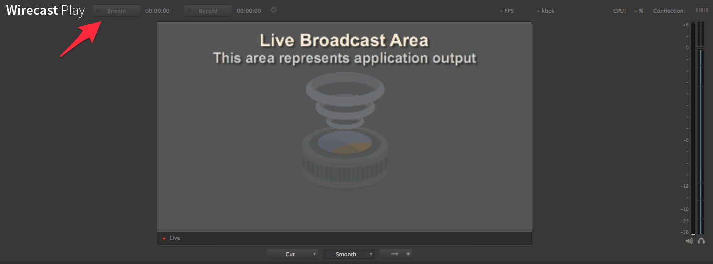 wirecast play stream