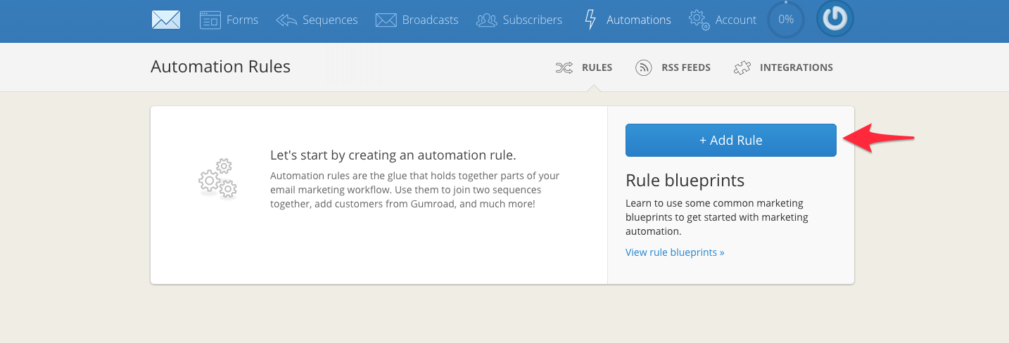 add convertkit rule