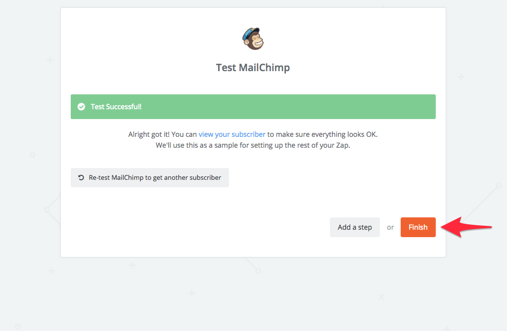 finish mailchimp integration