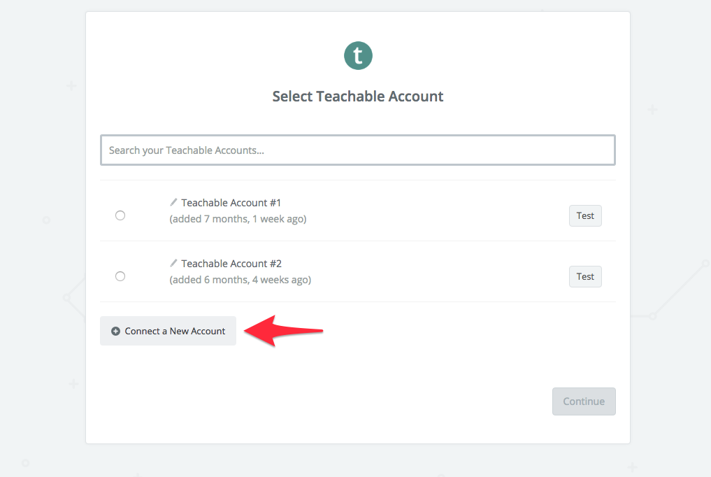 connect new teachable account