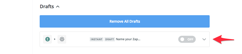 choose zapier draft