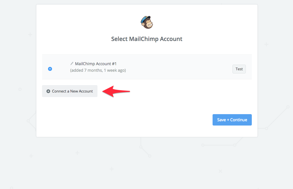 connect mailchimp account