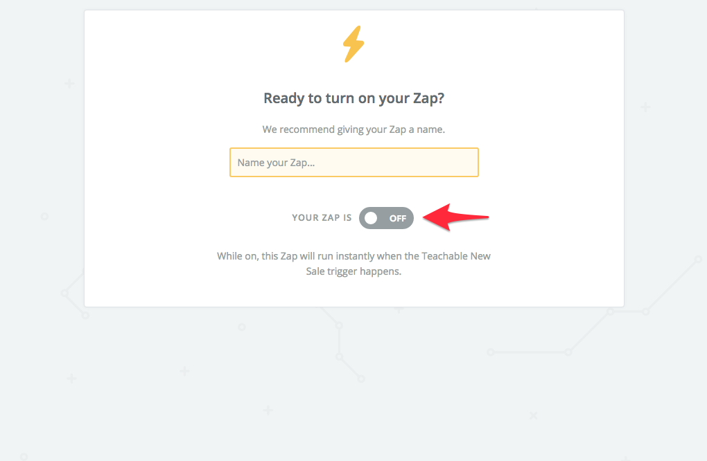 turn on mailchimp zap