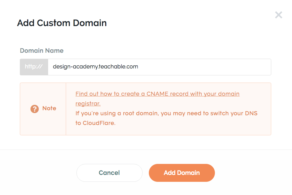 add custom subdomain