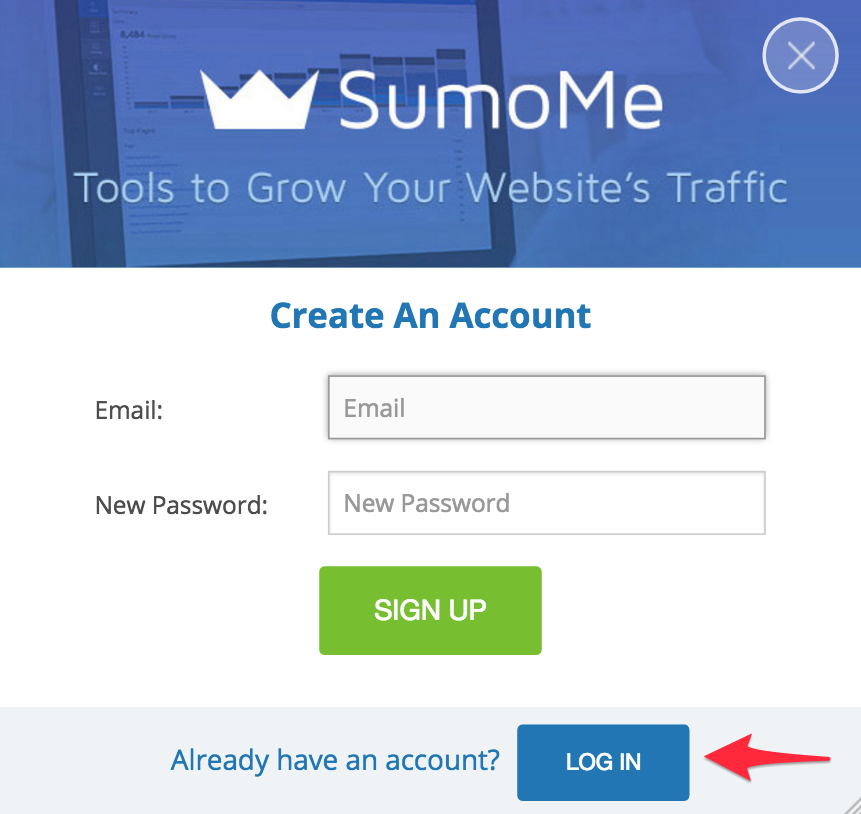 login to sumome