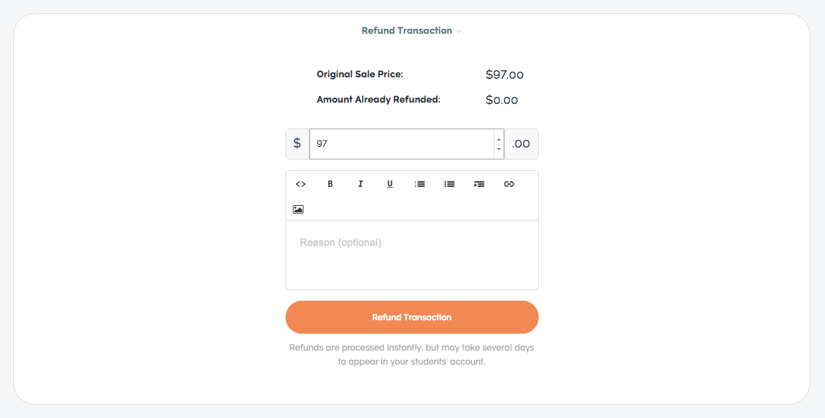 refund transaction