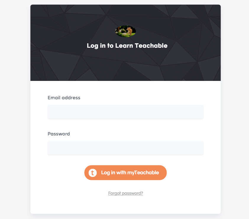 login with existing myTeachable account