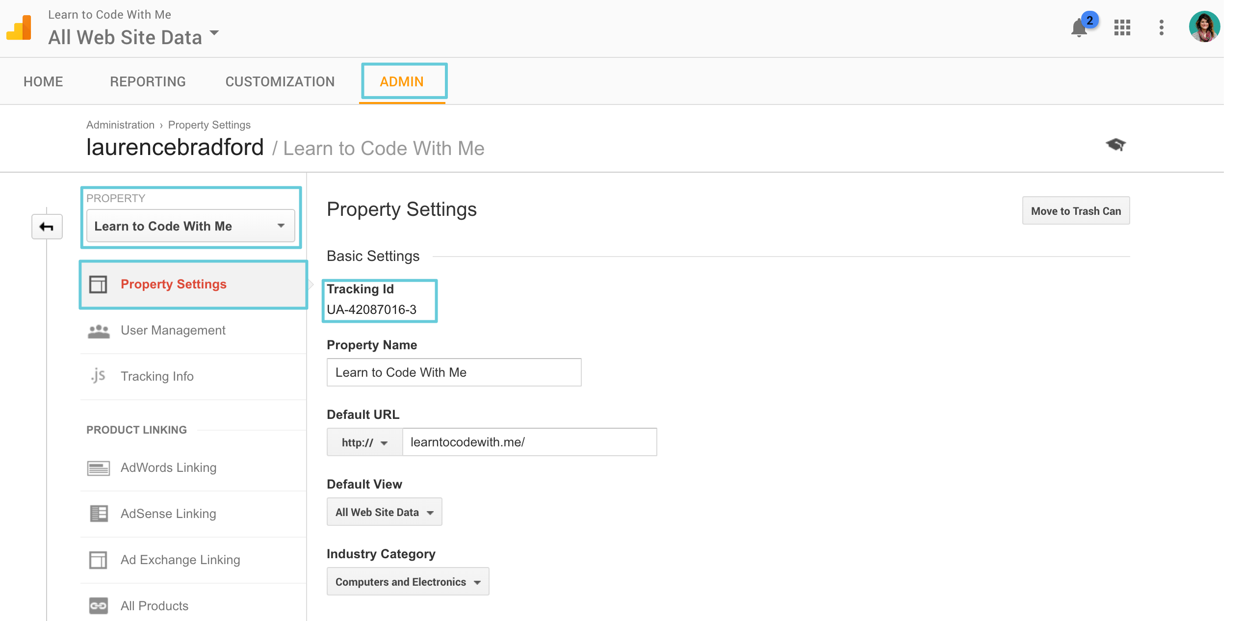 ga-tracking-id-property-settings